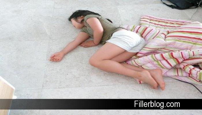 tidur dilantai berbahaya
